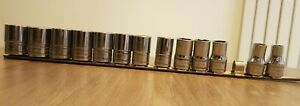 """Snap-On 1/2"""" drive shallow 6-point socket set – TWM10-23 *12mm not included*"""