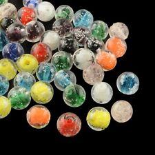 10 x 8mm Lampwork Glass Glow in the Dark Luminous Beads