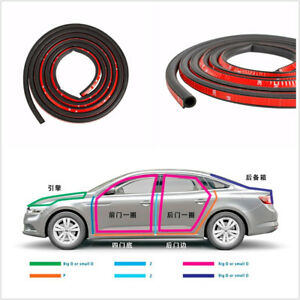 4M Big D-Shape Moulding Trim Rubber Strip Car Door Window Edge Seal Weatherstrip