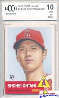 2018 Topps Living Set #7 SHOHEI OHTANI ROOKIE LA Angels 1953 Style BECKETT 10