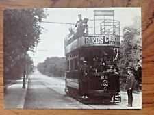 Postcard~Walthamstow Tramcar no 28 Woodford New Road c 1905 (1980 REPRO)