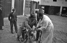 NEGATIV - 30iger Jahre Art Deco Oldtimer Motorrad BMW ? Tschechien