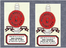 Mills Hightop ,Black Cherry, & Golden Falls slot machine water slide decals pair