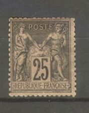 "FRANCE STAMP TIMBRE N° 97 "" SAGE 25c NOIR SUR ROSE "" NEUF xx TB"