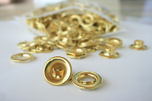 96 Brass Grommets #2 Rolled Rim with Spur Washers