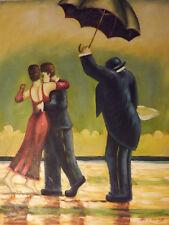 Los amantes de la pareja Abstracto bailando grandes pintura al óleo lienzo arte moderno contemporáneo
