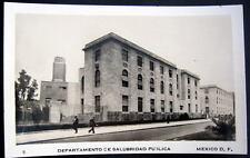 MEXICO ~ 1920's MEXICO D.F. ~ DEPARTAMENTO DE SALUBRIDAD PUBLICA ~ RPPC