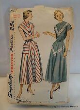 Vintage 40's 50's Simplicity Ladies'  Dress Pattern Size 12 Cut & Complete #2807