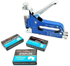 NEW 3 WAY STAPLER STAPLE GUN KIT  - Upholstery Wood Ceiling  - Case