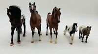 Lots of 5 Horses including Breyer Molding, Empire Brown Brushable hair and Mojo