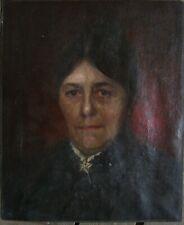 ::PORTRAIT DAME FRAU  BILDNIS UM 1880 GESICHT GRÜNDERZEIT SALON ANTIK TRACHT