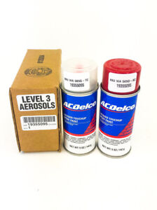 GM ACDelco Crystal Red Paint 5oz Spray Code 98U WA505Q & Top Coat