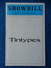 Tintypes - Theatre Of Saint Peter's Church Playbill - June 1980 - Mignini