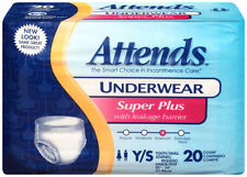 """Attends Super Plus Abs Underwear Youth/Small (22""""-34"""") Bag 0f 20 - APP0710"""