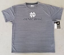 NOTRE DAME GREY BRAND NEW RUSSELL LICENSED TSHIRT 2XL FREE SHIPPING