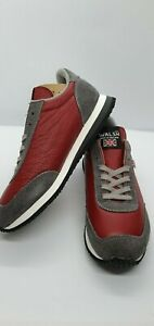 WALSH RETRO STYLE LADIES GIRLS TRAINERS SNEAKERS TORNADO GREY & RED UK 3 USA 4