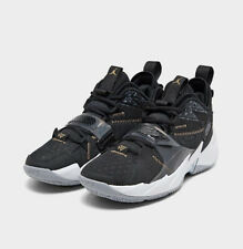 Men's Air Jordan Why Not Zer0.3 Basketball Shoes Black/ White/ Gold  CD3003 001