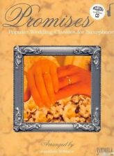 """PROMISES"" POPULAR WEDDING CLASSICS FOR SAXOHPHONE MUSIC BOOK/PIANO ACC. CD-NEW!"