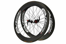 Rol Racing 58C Road Bike Wheel Set 700c Carbon Tubular Shimano 10 Speed