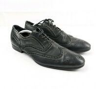PAUL SMITH PS Black Lace Up Leather Shoes Brogues - UK 9 EU 43 - Made in Italy