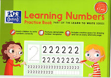 Oxford Learning Numbers Practice Learn to Write Book for Children Key Stage1