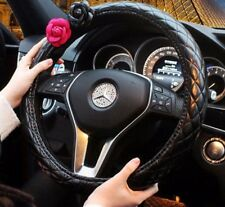 1pcs  Fashion Lady Camellia Car Auto Series Steering Wheel Cover