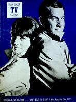 TV Guide 1968 Get Smart Don Adams Barbara Feldon Regional TV Week EX/NM COA
