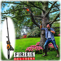 Electric Pole Saw Tree Trimmer Chainsaw Pruner Telescoping 15 Ft Branch Tree