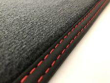 Fußmatten für VW Touareg 3 Velours Deluxe schwarz o. anthrazit Doppelnaht rot