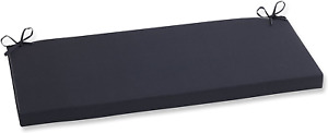 Pillow Perfect Indoor/Outdoor Fresco Bench Cushion, Black