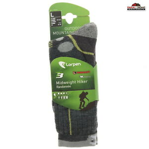 Lorpen Merino Wool Outdoor Hiking Socks Large ~ New