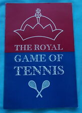 THE ROYAL GAME OF TENNIS BY RICHARD HAMILTON REAL TENNIS BOOKLET 1971 1ST ED.