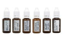 BIOTOUCH Permanent MakeUp MICROBLADING PIGMENTS for EYEBROWS 6 bottles 15 ml