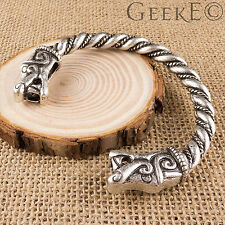VIKING Fenrir WOLF bracciale argento VIKING ARM RING