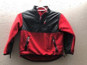 Gap Kids- Black/RedFleece Quarter 1/4 Zip Pullover Jacket Size XS (4)