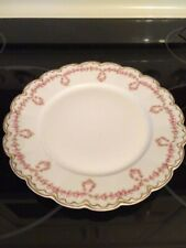 "Haviland Limoges Schleiger 319  Gold Rose Swag Dinner Plate 9 3/4"" France"