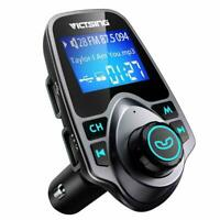Victsing Wireless Bluetooth FM Transmitter In-Car MP3 Radio Adapter USB Charger