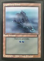 MTG Middle Ages Sticker Card - Rare Island - 1994 Magic the Gathering