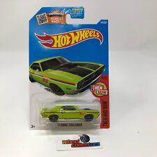 '71 Dodge Challenger #104 * Green Kmart Only * 2016 Hot Wheels * Y62