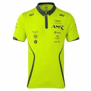Aston Martin Racing Team Polo Shirt 2019 Lime Green ADULT