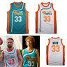 Jackie Moon #33 Semi Pro Costume Basketball Jersey Flint Tropics Will Ferrell