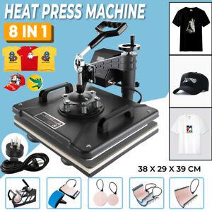8 in 1 Heat Press Machine Transfer Mug Hat Cup Sublimation Printer Printing