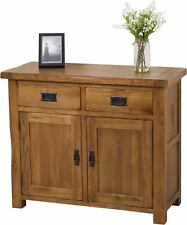 Cotswold Solid Oak Small Sideboard Cabinet 2 Door 2 Drawer Storage Unit Bedroom