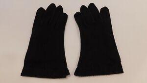 VAN RAALTE LADIES BLACK COTTON DRESS GLOVES UNLINED SIZE 7