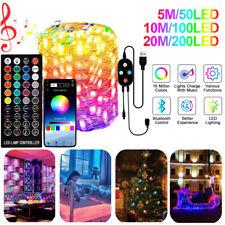20M Christmas Tree LED String Lights Waterproof Bluetooth App Control Xmas Decor