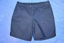 NEW SUZANNEGRAE Navy Blue SHORTS Size 18.100% Cotton. STYLISH Curved Side Seam