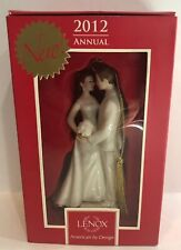 """Lenox 2012 Annual """"Always & Forever Bride And Groom"""" Porcelain Ornament"""