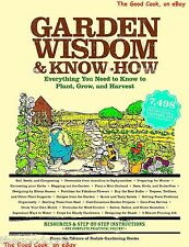 Garden Wisdom & Know-How Handbook Back to Basics Guide Planting Growing Book New