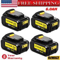 20X For DeWalt 20V 20 Volt Max XR 6Ah Lithium Ion Battery Pack DCB205-2 DCB206-2
