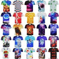 Fashion Men's 3D Print Summer Short Sleeve Casual T-Shirt Graphic Tee Tops Shirt